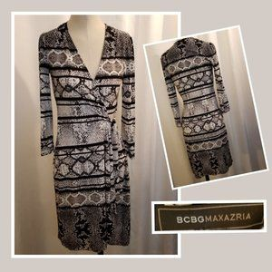 BCBGMaxAzria Adele Wrap Dress XS